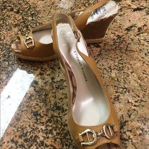 Ladies slingback wedge shoes